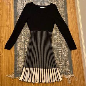 Calvin Klein Womens Long Sleeve Knit Dress